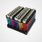 mechero-plano-atomic-5-colores-caja-expositora-50-uds