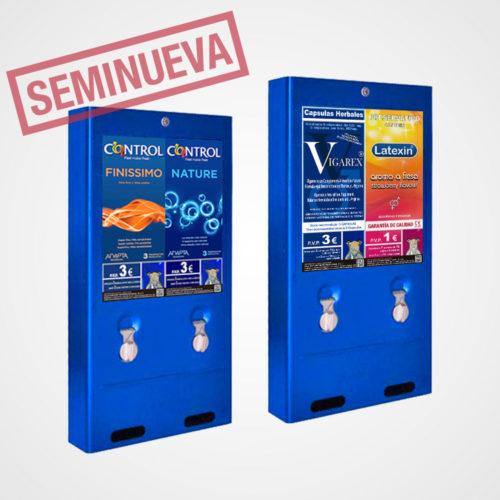 maquina-expendedora-de-vending-multiproducto-doble-canal-2-productos-polivalente-condones-vigarex-compresas-tampones-control-segunda-mano