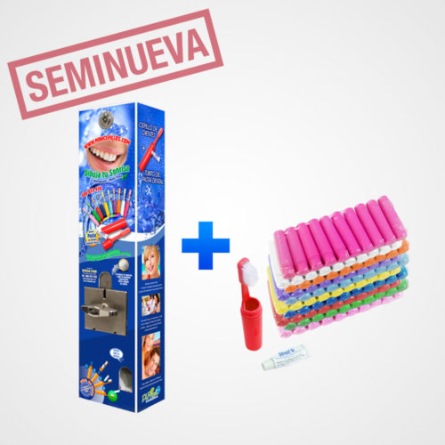 oferta-maquina-seminueva-cargada-100-cepillos-dentales