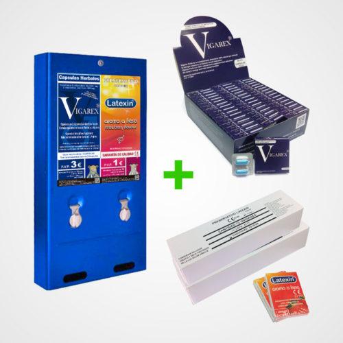 maquina-expendedora-de-2-productos-vending-polivalente-cargada-de-vigarex-y-preservativos